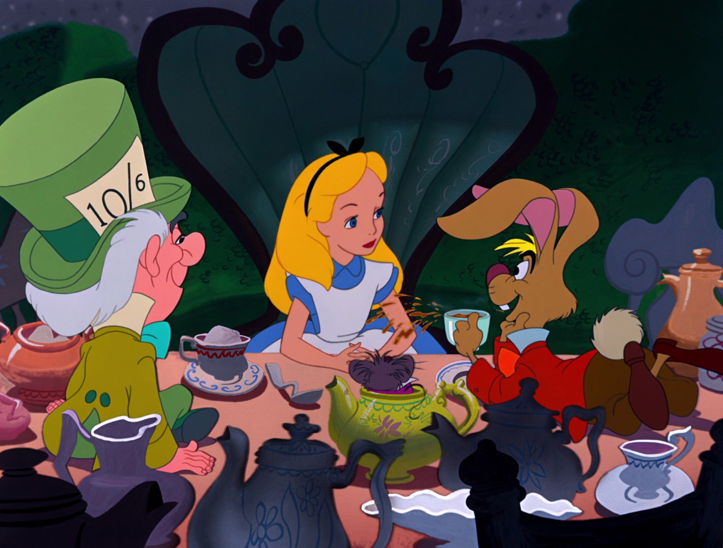 alice in wonderland tea party quotes 1951