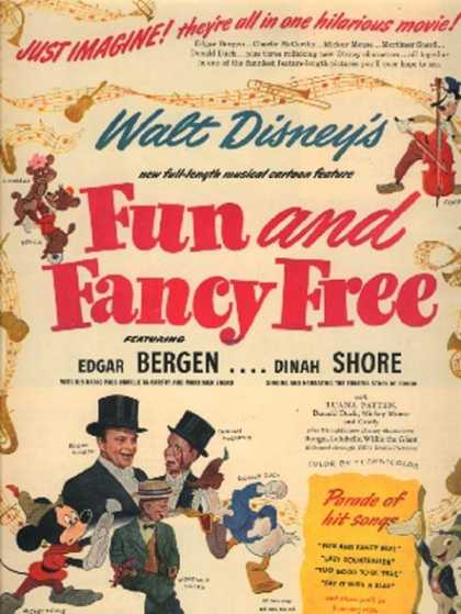 fun and fancy free poster