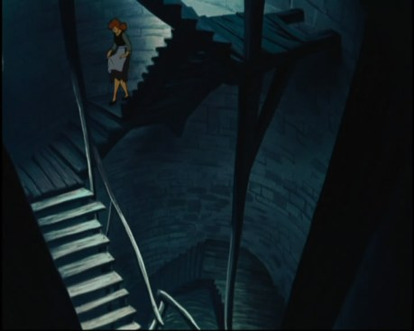 This isn't that exact scene but the attic stairs are very well designed.