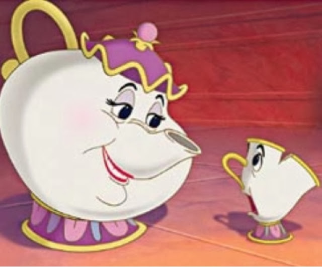 Is Sung By The Perky Teapot Mrs Potts To Her Adorable Son Chip A Cute Little Cup With On Rim Now This Creativity Capital C