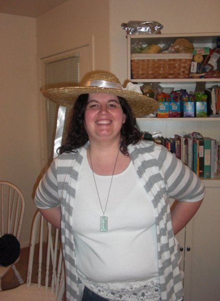 This is me with my hat at the Royal Wedding party
