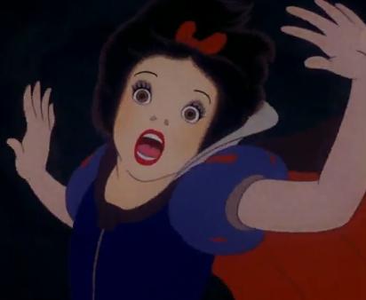 snow white scared