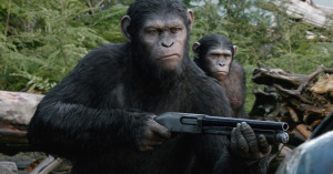 "Caesar (played in a performance-capture suit by Andy Serkis) is the leader of the ape nation in ""Dawn of the Planet of the Apes.""  Photo courtesy of 20th Century Fox"