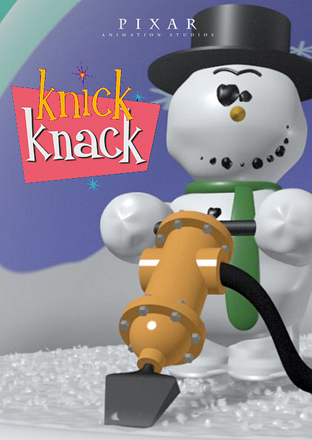 Resultado de imagen de knick knack pixar