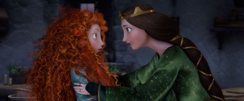 """""""BRAVE"""" (L-R) MERIDA and QUEEN ELINOR. ©2012 Disney/Pixar. All Rights Reserved."""