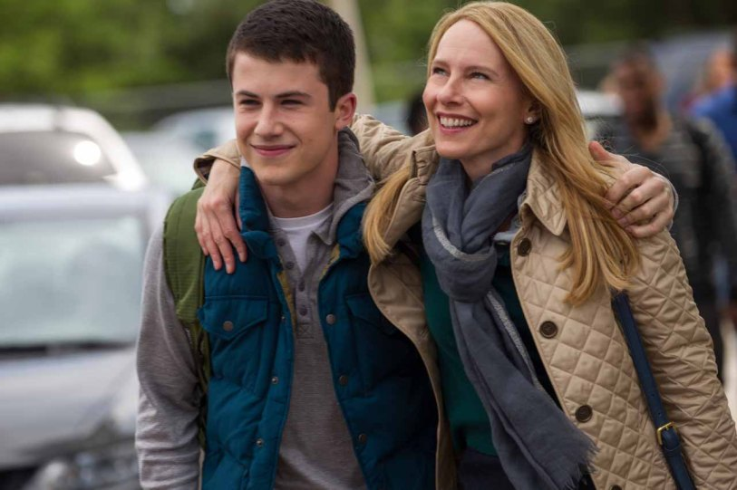 Dylan Minnette and Amy Ryan in Columbia Pictures'