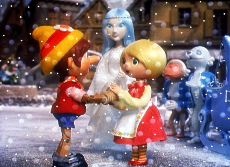 PINOCCHIO'S CHRISTMAS,  (from left): Pinocchio, Lady Azura, Julietta, 1980. © Rankin/Bass