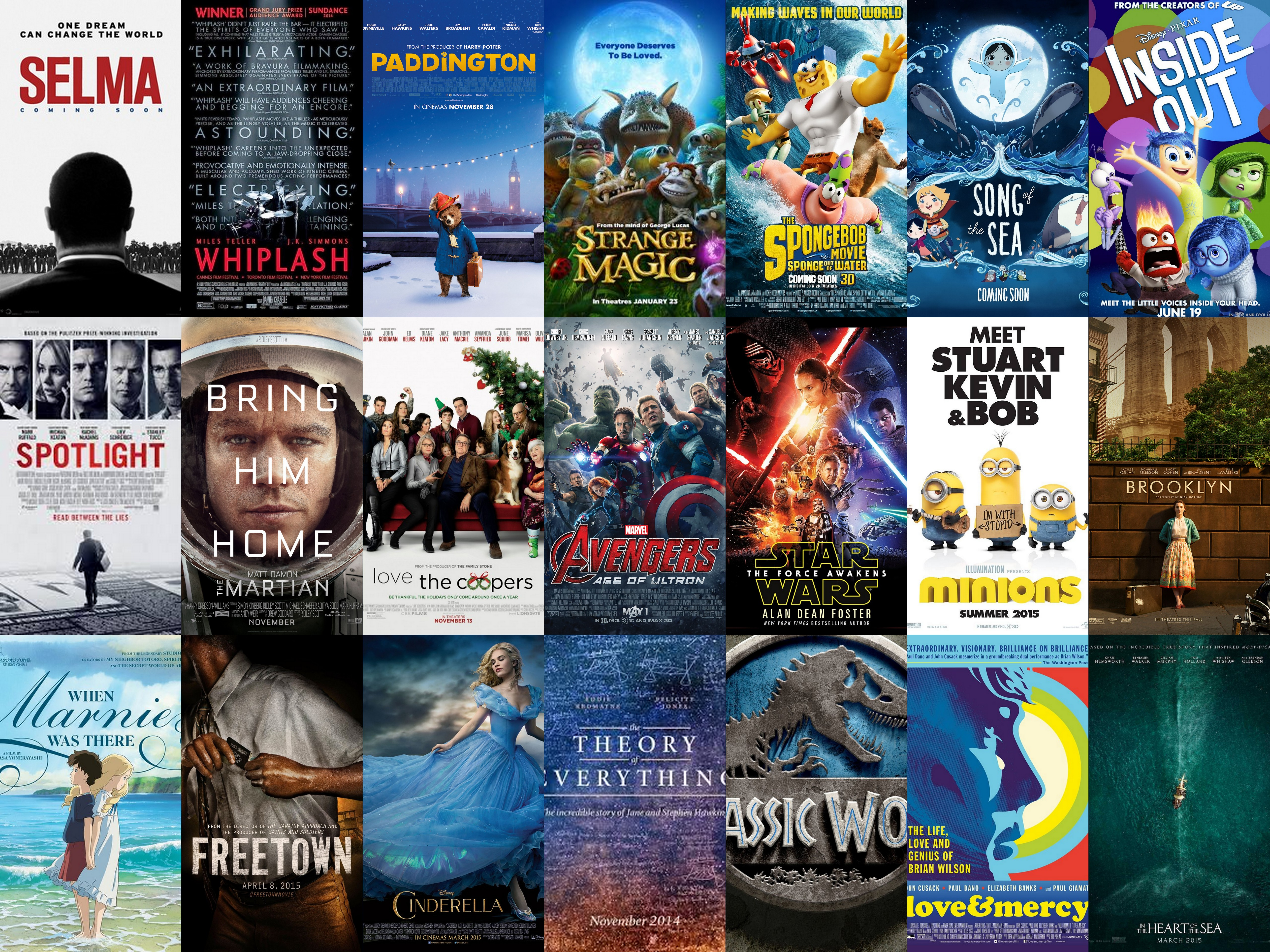 Movies I Saw in Theater in 2015 – Rachel's Reviews