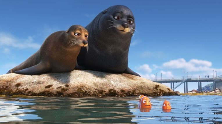 finding dory sea lions